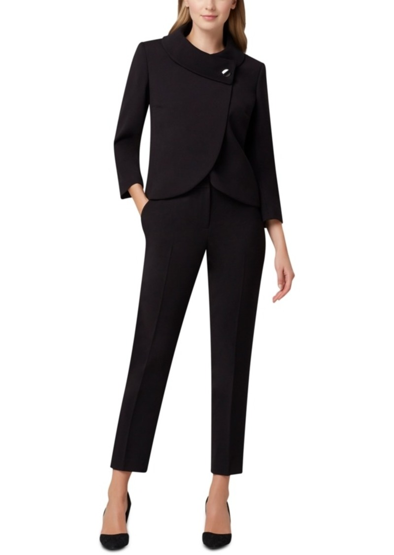 Tahari Asl Wrap-Jacket Pants Suit