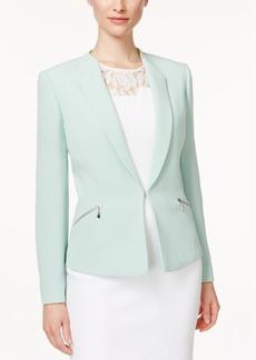 Tahari Asl Zip-Pocket Crinkle Jacket