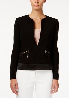 Tahari Asl Zipper-Pocket Jacket