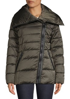Tahari Asymmetric Quilted Jacket