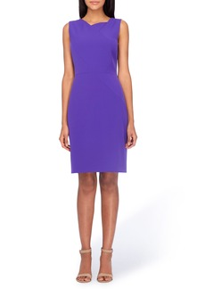 Tahari Asymmetrical Sheath Dress (Regular & Petite)