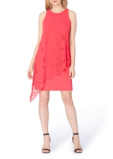 Tahari Asymmetrical Shift Dress