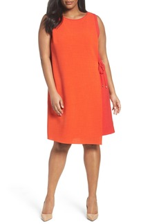 Tahari Asymmetrical Shift Dress (Plus Size)