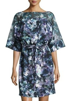Tahari Aubry Watercolor-Print Dress