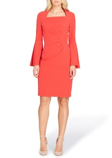 Tahari Bell Sleeve Sheath Dress