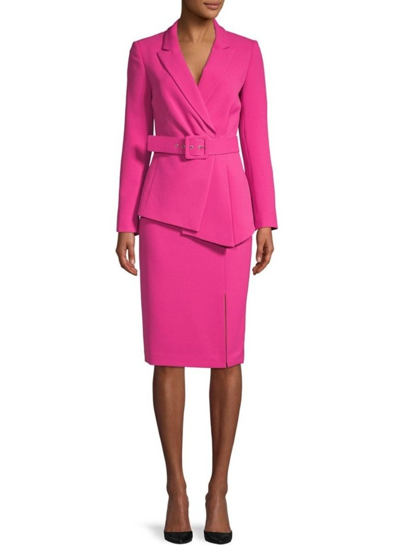 Tahari Belted Jacket and Skirt Suit