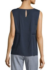 Tahari ASL Blouse W/Braided Panels