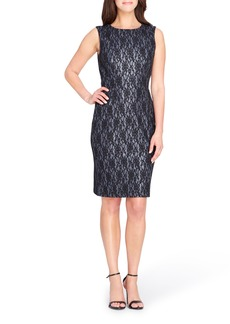 Tahari Bonded Lace Sheath Dress