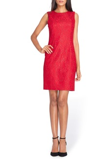 Tahari Bonded Lace Sheath Dress (Regular & Petite)