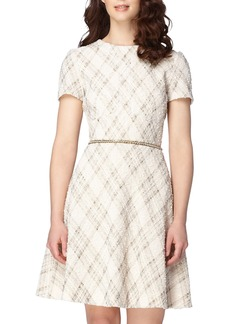 Tahari Bouclé Fit & Flare Dress (Regular & Petite)
