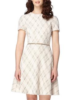 Tahari Bouclé Fit & Flare Dress (Regular & Petite)