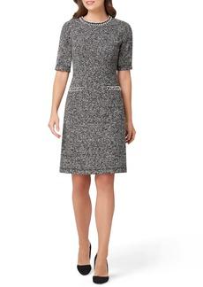 Tahari Bouclé Knit Sheath Dress