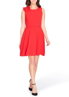 Tahari Bow Fit & Flare Dress