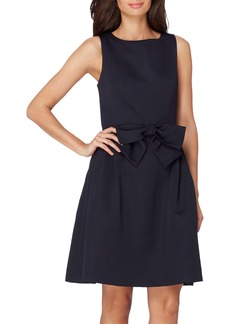 Tahari Bow Front A-Line Dress