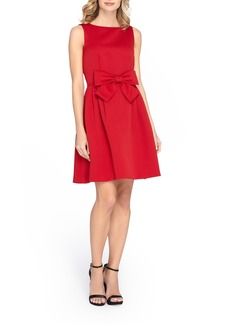 Tahari Bow Front Fit & Flare Dress (Regular & Petite)