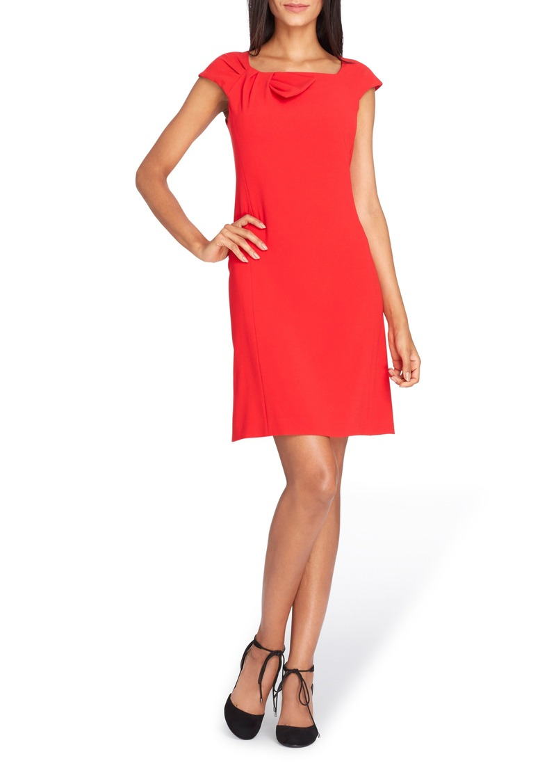 Tahari Bow Neck Sheath Dress (Regular & Petite)