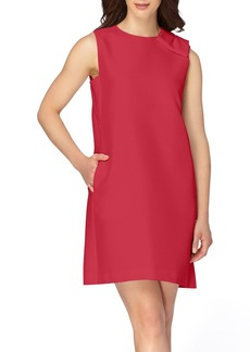 Tahari Bow Satin Dress (Regular & Petite)