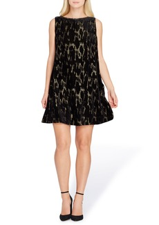 Tahari Burnout Velvet Dress