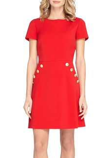 Tahari Button Front A-Line Dress (Regular & Petite)