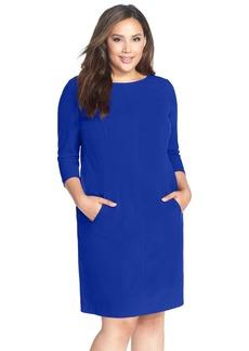Tahari by Arthur S. Levine Seamed A-Line Dress (Plus Size)