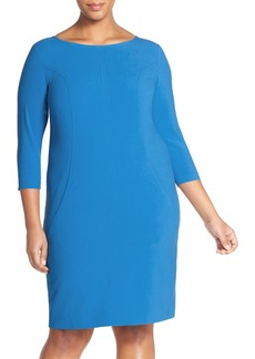 Tahari by Arthur S. Levine Seamed A-Line Dress (Plus Size)