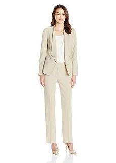 Tahari by Arthur S. Levine Women's Asl Missy Bistretch Pant Suit with Fly Away Collar