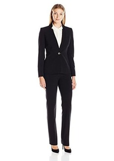 Tahari by Arthur S. Levine Women's Asl Missy Bistretch Pant Suit with Novelty Closure