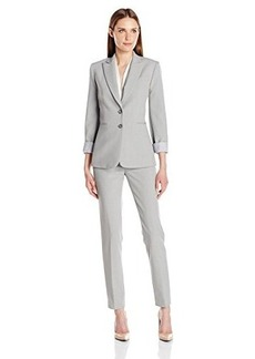 Tahari by Arthur S. Levine Women's Asl Missy Bistretch Pant Suit with Striped Lining