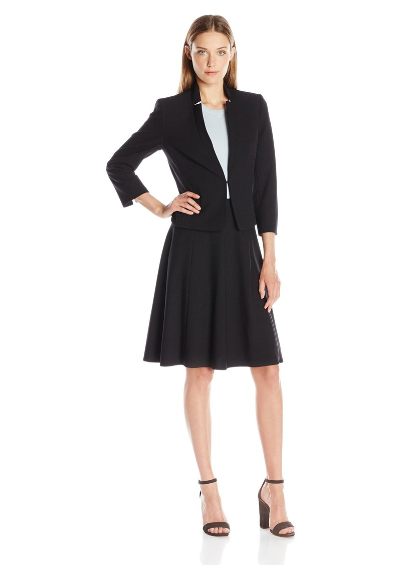 Tahari by Arthur S. Levine Women's Missy Bistretch Skirt Suit with Full Skirt