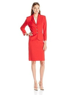 Tahari by Arthur S. Levine Women's Asl Missy Crepe Skirt Suit with Shawl Collar