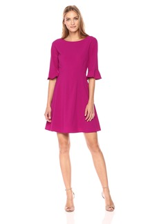 Tahari by Arthur S. Levine Women's  Bell Sleeve Bi Stretch Dress