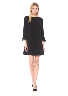 Tahari by Arthur S. Levine Women's Bell Sleeve Shift Dress with Lace Detail