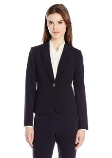 Tahari by Arthur S. Levine Women's Bi Strech Blazer with Gold Toggle Button