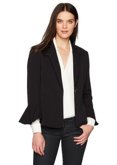 Tahari by Arthur S. Levine Women's Bi Stretch Jacket with Tulip Sleeve Detail