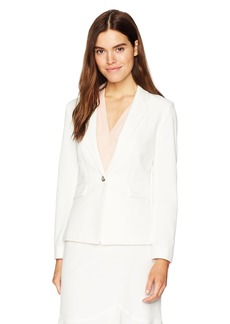 Tahari by Arthur S. Levine Women's Bi Stretch one Button Notch Lapel Jacket