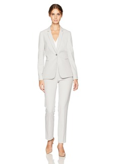 Tahari by Arthur S. Levine Women's Bi Stretch One Button Pant Suit