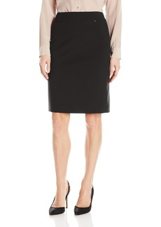 Tahari by Arthur S. Levine Women's Bi Strech Side Zip Straight Skirt