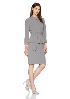 Tahari by Arthur S. Levine Women's Bi Stretch Skirt Suit with Self Tie Waist
