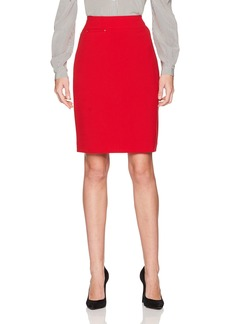 Tahari by Arthur S. Levine Women's Bi Stretch Straight Skirt with Hardware Detail