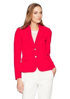 Tahari by Arthur S. Levine Women's Bi Stretch Two Button Long Sleeve Jacket