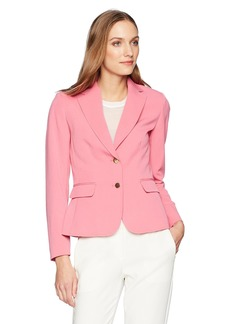 Tahari by Arthur S. Levine Women's Bi Stretch Two Button Long Sleeve Jacket