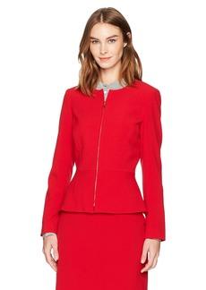Tahari by Arthur S. Levine Women's Bi Stretch Zip Front Peplum Jacket
