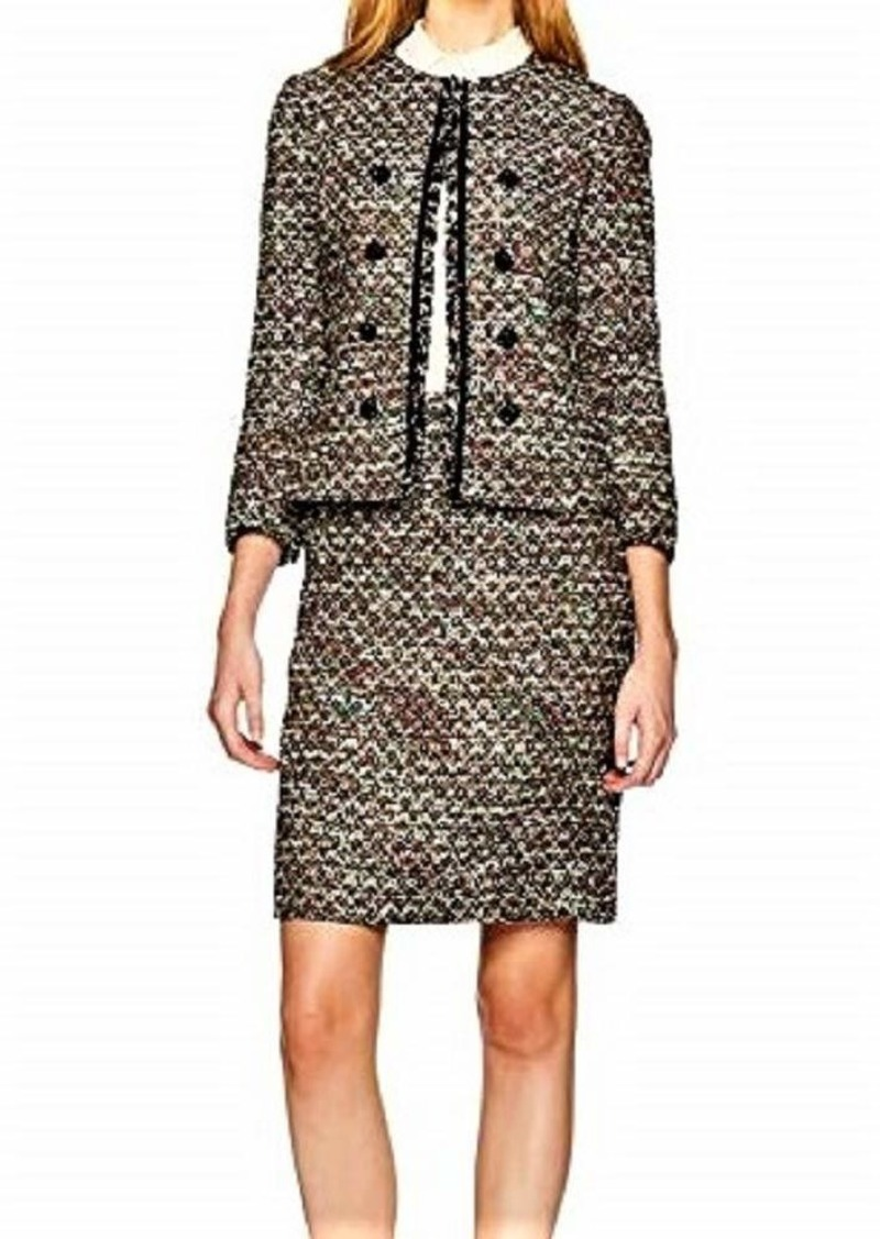 Tahari by Arthur S. Levine Women's Boucle Skirt Suit Open Jacket