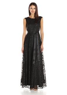 Tahari by Arthur S. Levine Women's Cap Sleeve Novelty Floret Gown