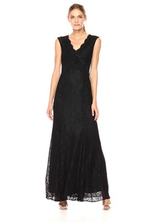 Tahari by Arthur S. Levine Women's Cap Sleeve Stretch Lace Gown