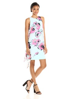 Tahari by Arthur S. Levine Women's Chiffon Overlay Printed Dress