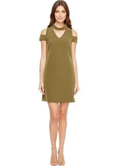 Tahari by Arthur S. Levine Women's Cold Shoulder Neck Crepe Dress