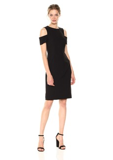 Tahari by Arthur S. Levine Women's Cold Shoulder Sheath Dress
