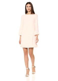 Tahari by Arthur S. Levine Women's Crepe and Chiffon Long Sleeve