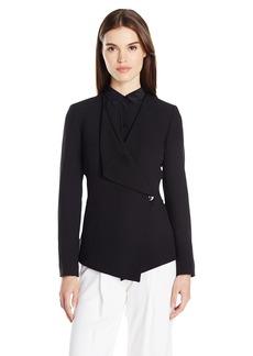 Tahari by Arthur S. Levine Women's Crepe Drape Front Jacket